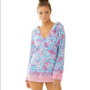 Lilly Pulitzer Higgs Hooded Tunic Coverup